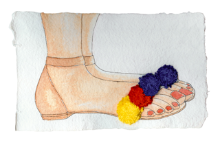 pom pom sandal design